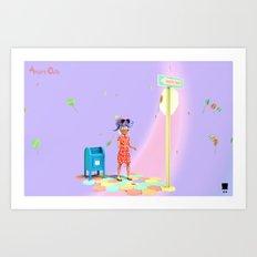 Angryocto - Sara's Candy2 Art Print