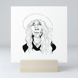 Punk poet Mini Art Print