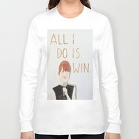 emma stone Long Sleeve T-shirts featuring All I do is win, Emma stone  by Thespanishlady