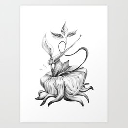 Cut the Cords - Graphite Drawing Art Print