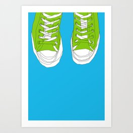 Cons. Art Print. Trainers. Sneakers. Converse All Star. Boys Art. Art Print