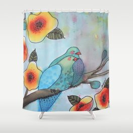a little bit longer Shower Curtain