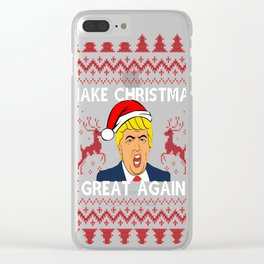 Make Christmas Great Again Clear iPhone Case