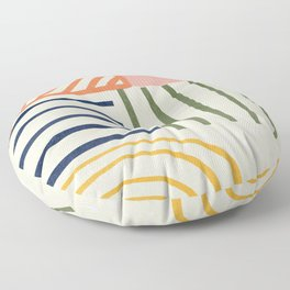 Colorful lines  Floor Pillow