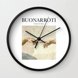 Buonarroti - Creation of Adam Wall Clock