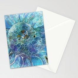 Aqua seashell - mother of pearl - Beautiful backdrop Stationery Cards