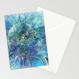 Aqua seashell - mother of pearl - Beautiful backdrop Stationery Cards