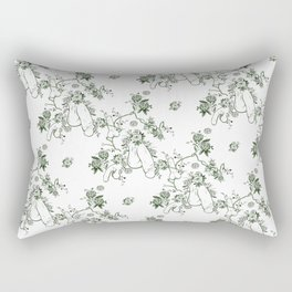 Penis Pattern GREEN Rectangular Pillow