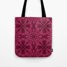 Dotted Tile: Wine-berry  Tote Bag