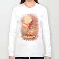 macarons Long Sleeve T-shirts featuring Love Macarons! by Andras Balogh