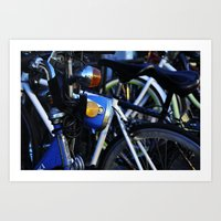 bicycles Art Prints featuring Bicycles by Alex Holden