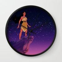 pocahontas Wall Clocks featuring Pocahontas ♥ by Vita♥G