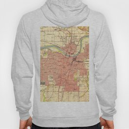 Vintage Map of Topeka Kansas (1951) Hoody