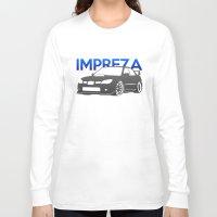 subaru Long Sleeve T-shirts featuring Subaru Impreza 2006 by Vehicle