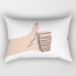 Thumb Up Rectangular Pillow