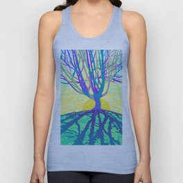 sunset silhouette Unisex Tank Top