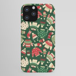 Ugly Christmas Fashion red green white iPhone Case