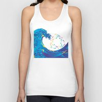 hokusai Tank Tops featuring Hokusai Rainbow & rotating dolphins_D by FACTORIE