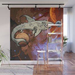 Cosmic Shark Wall Mural