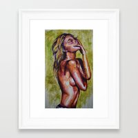 pain Framed Art Prints featuring Pain by Artsy Kat