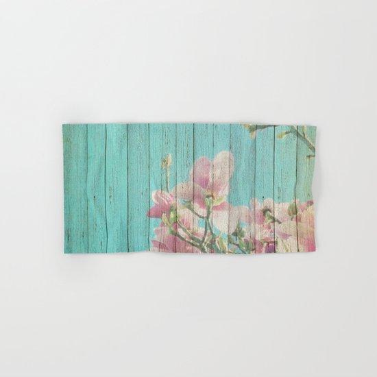 Sweet Flowers on Wood 08 Hand & Bath Towel