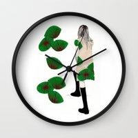 cara Wall Clocks featuring Cara by Melania B