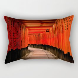 Walk through the red path Rectangular Pillow