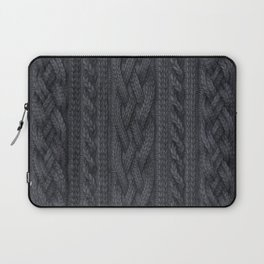Charcoal Cable Knit Laptop Sleeve