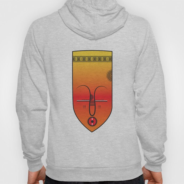African Tribal Mask No. 9 Hoody