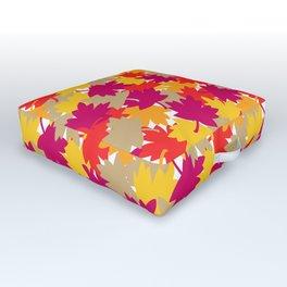 Autumn Fall Leaves Outdoor Floor Cushion