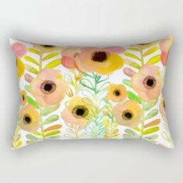 Peony field Rectangular Pillow