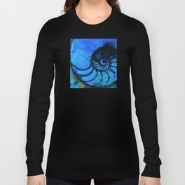 Nautilus Shell No. 987 by Kathy Morton Stanion Long Sleeve T-shirt