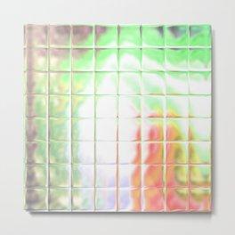 Square Glass Tiles 215 Metal Print