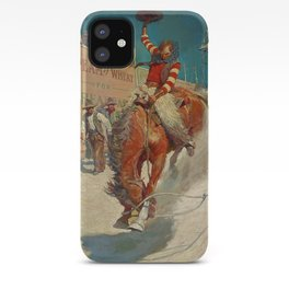 "N C Wyeth Western Painting ""The Rodeo"" iPhone Case"