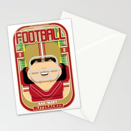 American Football Red and Gold -  Hail-Mary Blitzsacker - Amy version Stationery Cards