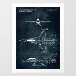 F-16 Fighting Falcon - 1974 Art Print