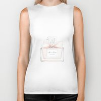 perfume Biker Tanks featuring Miss Perfume  by Huda Mulla