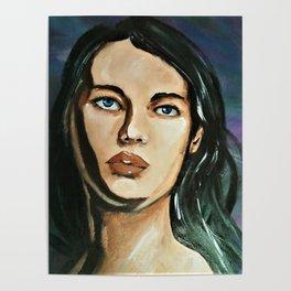 Contrast portrait(Diana) Poster