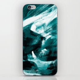 Abstract Artwork Petrol #1 iPhone Skin