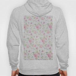 Elegant blush pink white vintage rose floral Hoody