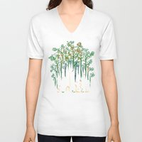 forest V-neck T-shirts featuring Re-paint the Forest by Picomodi