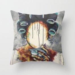 Undressed IX Throw Pillow