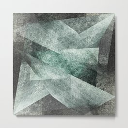green gray shades Metal Print