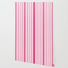 Pink 'alicious Stripes Wallpaper