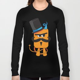 Mustachioed Miscreant Long Sleeve T-shirt