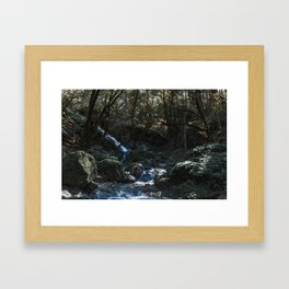 Chase the Waterfalls cataract falls California Bay Area Photograph Framed Art Print