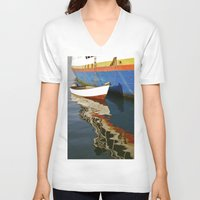 water colour V-neck T-shirts featuring Water Colour by David Jessamy