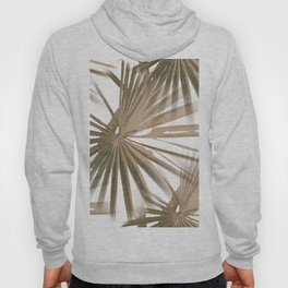 Brown on White Tropical Vibes Beach Palmtree Vector Hoody