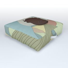 Whimsical Platypus Outdoor Floor Cushion