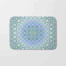 light blue butterfly kaleidoscope Bath Mat